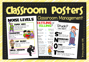 Classroom Managment Posters Cover