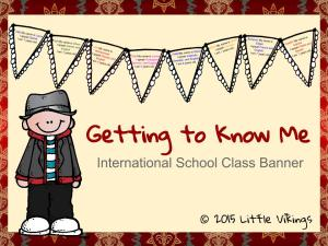 Getting to Know Me International School Freebie