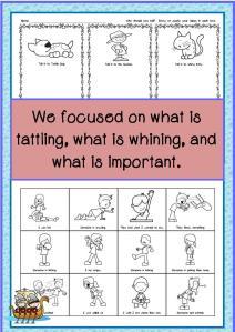 classroom no tattling