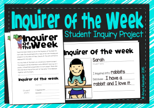 IB PYP Inquirer of the Week Cover