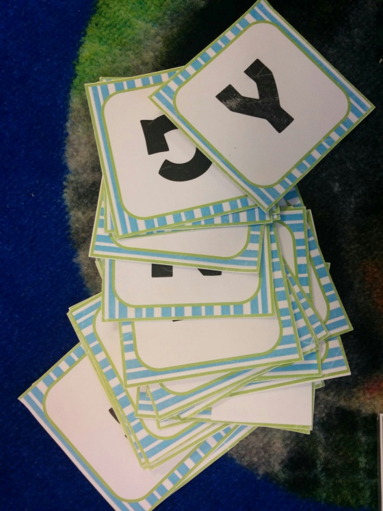 alphabet cuecards
